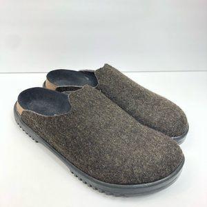Birkenstock Betula Brown Wool Felt Clogs Mules